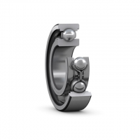 SKF-deep-grove-ball-bearing-open-with-steel-cage-and-recesses-on-the-outer-ring